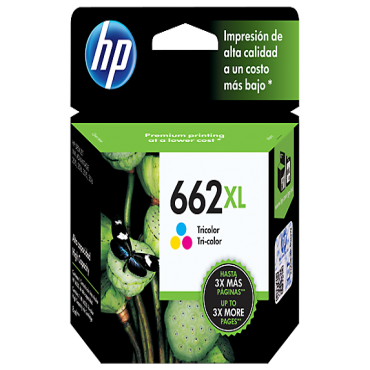 HP 662XL Coloured Ink