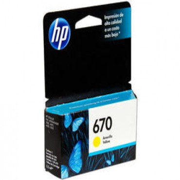 HP 670 YELLOW
