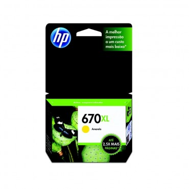 HP 670XL Yellow INK