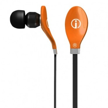 IME-22637 IMEXX EARPHONE RYTHMZ FLAT CABLE DESIGN TANGERINE