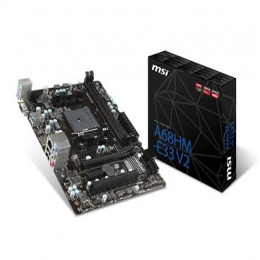 MSI AMD FM2+ A68hm-E33 V2 Motherboard