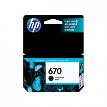 HP 670 BLACK