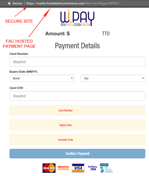 Wipay Payment Screen